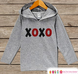 Boys Valentines Day Outfit - Kids Hoodie - Red XOXO Valentine Pullover - Baby Boys Valentine's Day Outfit - Kids, Baby, Toddler Hoodie - 7 ate 9 Apparel