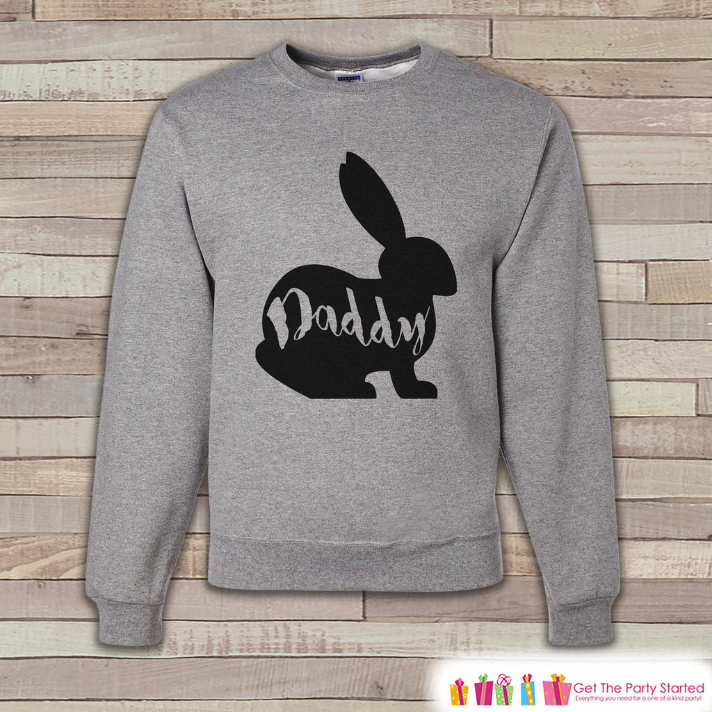 Adult Easter Shirt - Men's Easter Daddy Bunny Happy Easter Sweatshirt - Matching Family Easter Shirts - Easter Grey Men's Sweatshirt - 7 ate 9 Apparel