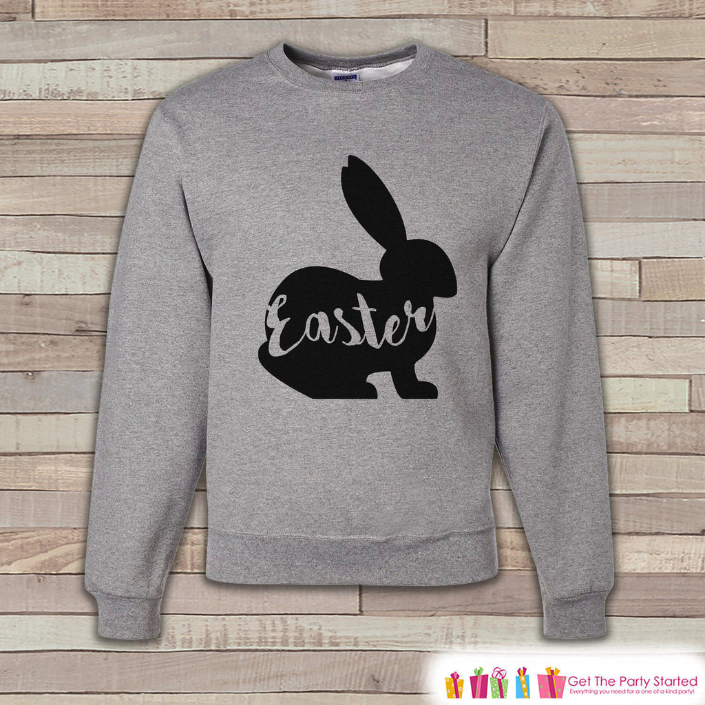 Adult Easter Shirt - Easter Bunny Happy Easter Sweatshirt - Matching Family Easter Shirts - Easter Grey Men's Sweatshirt - Easter Egg Hunt - 7 ate 9 Apparel