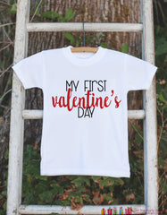 Baby Valentines Day Outfit - My First Valentine's Day Onepiece or T-shirt - Valentine Shirt for Baby Girls or Boys - My 1st Valentine's Day