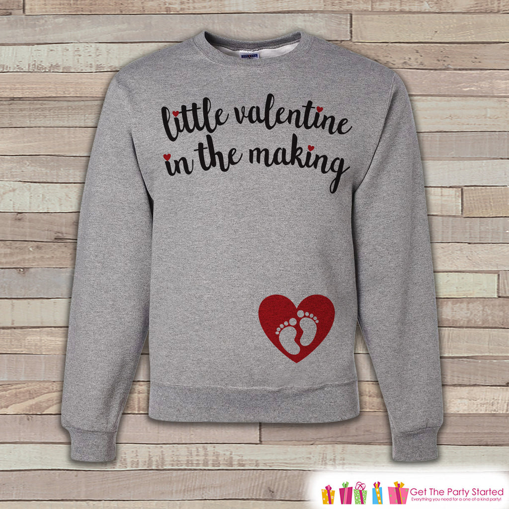 Valentine's Pregnancy Reveal - Little Valentine in the Making - Red Heart, Baby Feet - Pregnancy Announcement - Valentine's Pregnancy Reveal - 7 ate 9 Apparel