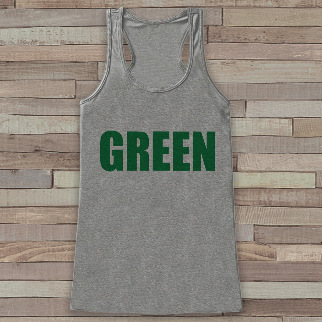 St. Patrick's Tank Top - Women's St. Patricks Day Tank - Grey Tank Top - Green Shirt - No Pinching - St. Patty's Tank - Humorous Gift Idea - 7 ate 9 Apparel