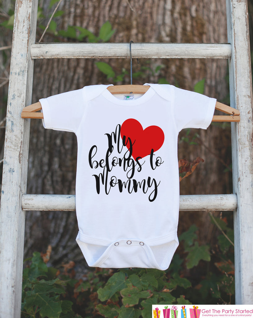 8f54a3af Mother's Day Outfit - My Heart Belongs to Mommy - Kids Happy Mother's – 7  ate 9 Apparel