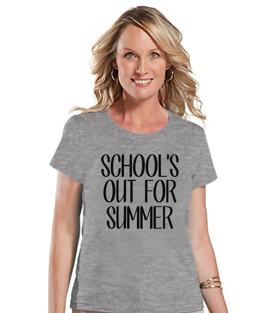 Teacher Shirt - Schools Out For Summer - Teacher Gift - Teacher Appreciation Gift - Teacher Appreciation - End of School - Grey Tshirt