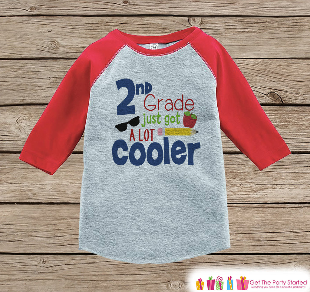 Back to School Shirt - 2nd Grade Shirt - Boys Back To School Outfit Red Raglan Tee - First Day of School Tshirt - Back to School Shirt