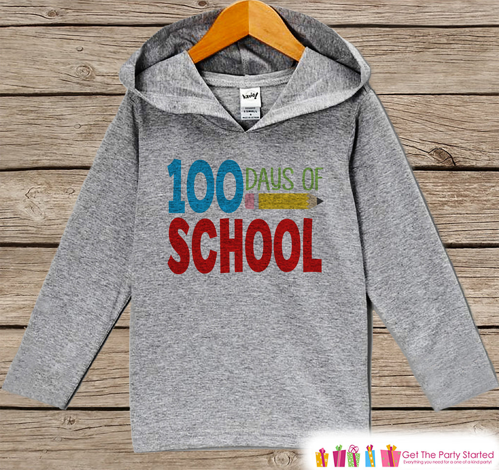100 Days of School Grey Hoodie