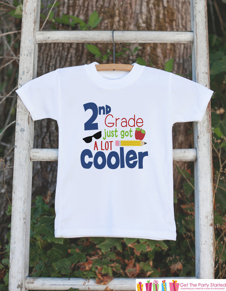 Back To School Shirt - Boys Second Grade Outfit - 2nd Grade Just Got Cooler - Kids Back to School Shirt - Boys My First Day of School