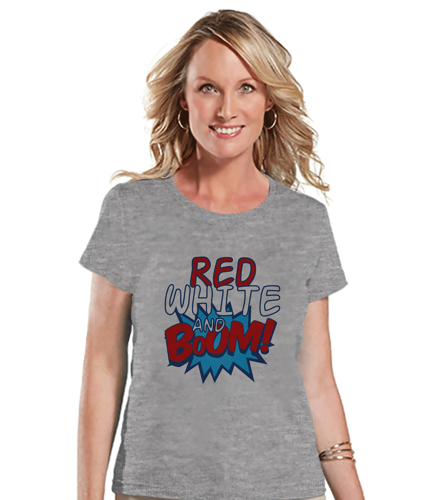 89f44cce Women's 4th of July Shirt - Red White & Boom Shirt - Fireworks Shirt - – 7  ate 9 Apparel
