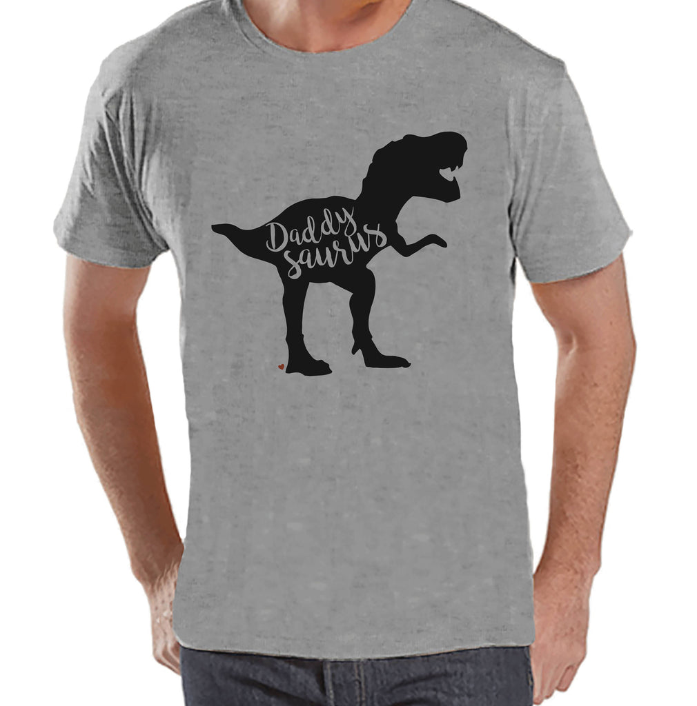Daddysaurus Shirt - Mens Grey T-shirt - Mens Dinosaur Shirt - Dinosaur Shirt - Dino Gift For Dad - Fathers Day Gift - Dad Shirt Gift Idea