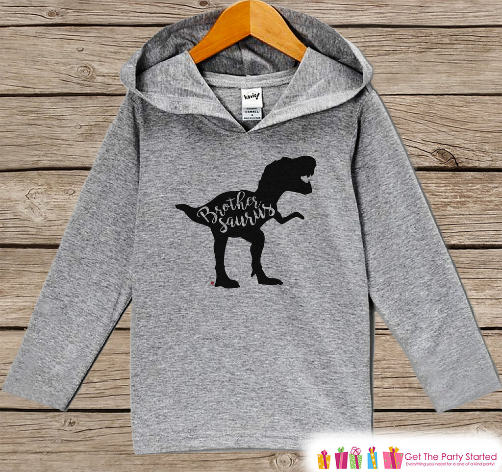 Boys Dinosaur Shirt - Brothersaurus Dinosaur Hoodie - Sibling Shirts - Brother Dino Hoodie - Boys Dino Pullover - Big Brother Little Brother