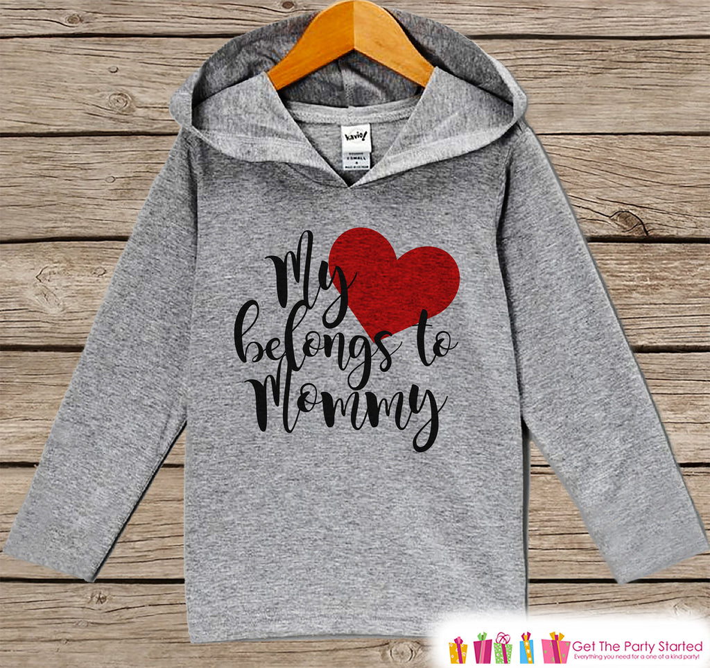 18683978 Kids Mother's Day Shirt - My Heart Belongs to Mommy Hoodie - Baby Girl – 7  ate 9 Apparel
