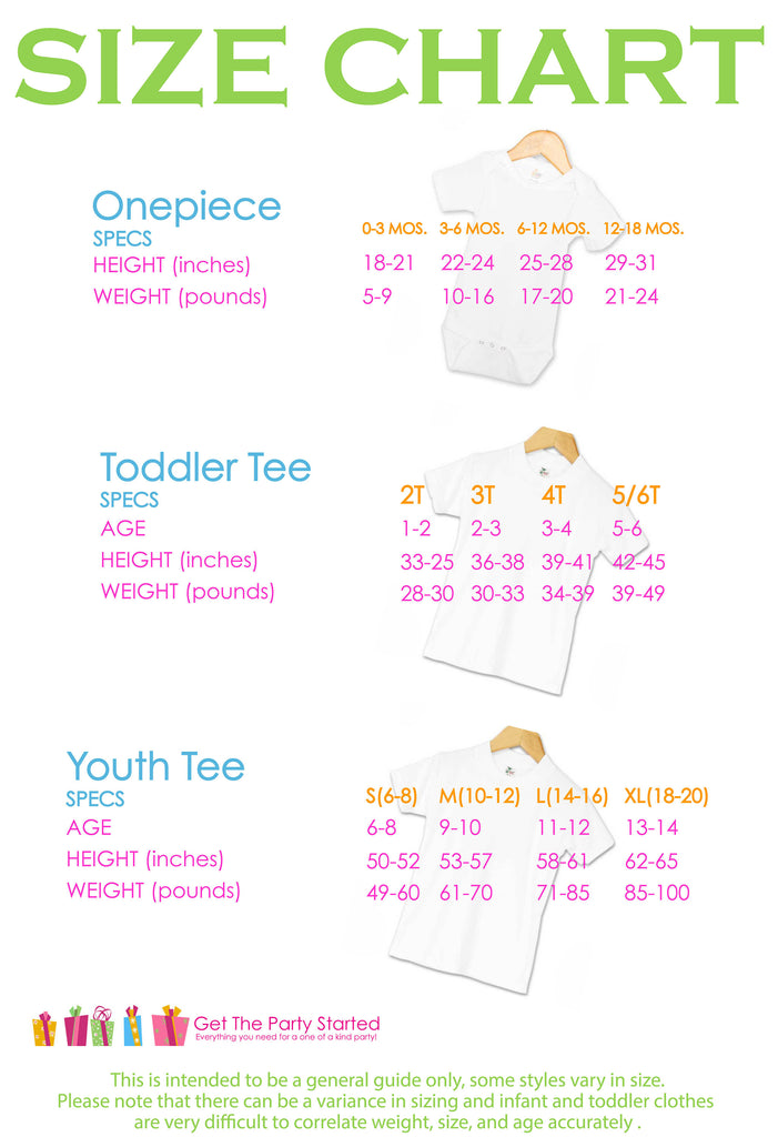 100 Days of School shirt sizing guide
