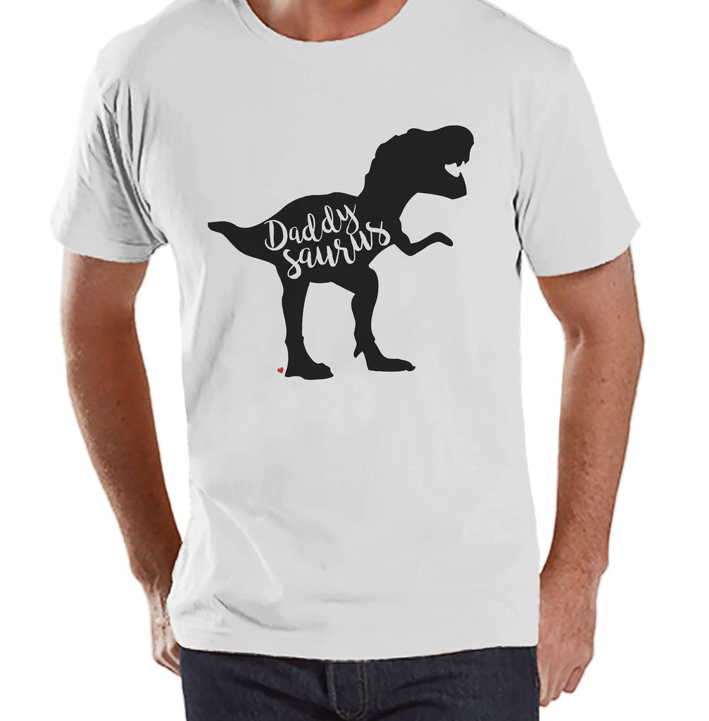 Daddysaurus Shirt - Mens White T-shirt - Mens Dinosaur Shirt - Dinosaur Shirt - Dino Gift For Dad - Fathers Day Gift - Dad Shirt Gift Idea