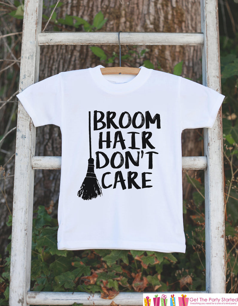 Kids Halloween Shirt - Funny Broom Hair Witch Happy Halloween Tshirt or Onepiece - Baby Girl or Boy Halloween Outfit - Kid Halloween Costume