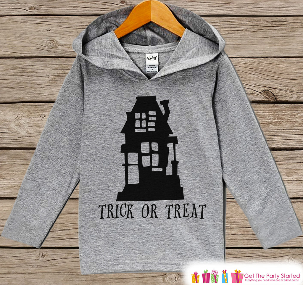 ade482ba Kids Halloween Shirt - Trick or Treat Halloween Hoodie - Girl or Boy H – 7  ate 9 Apparel