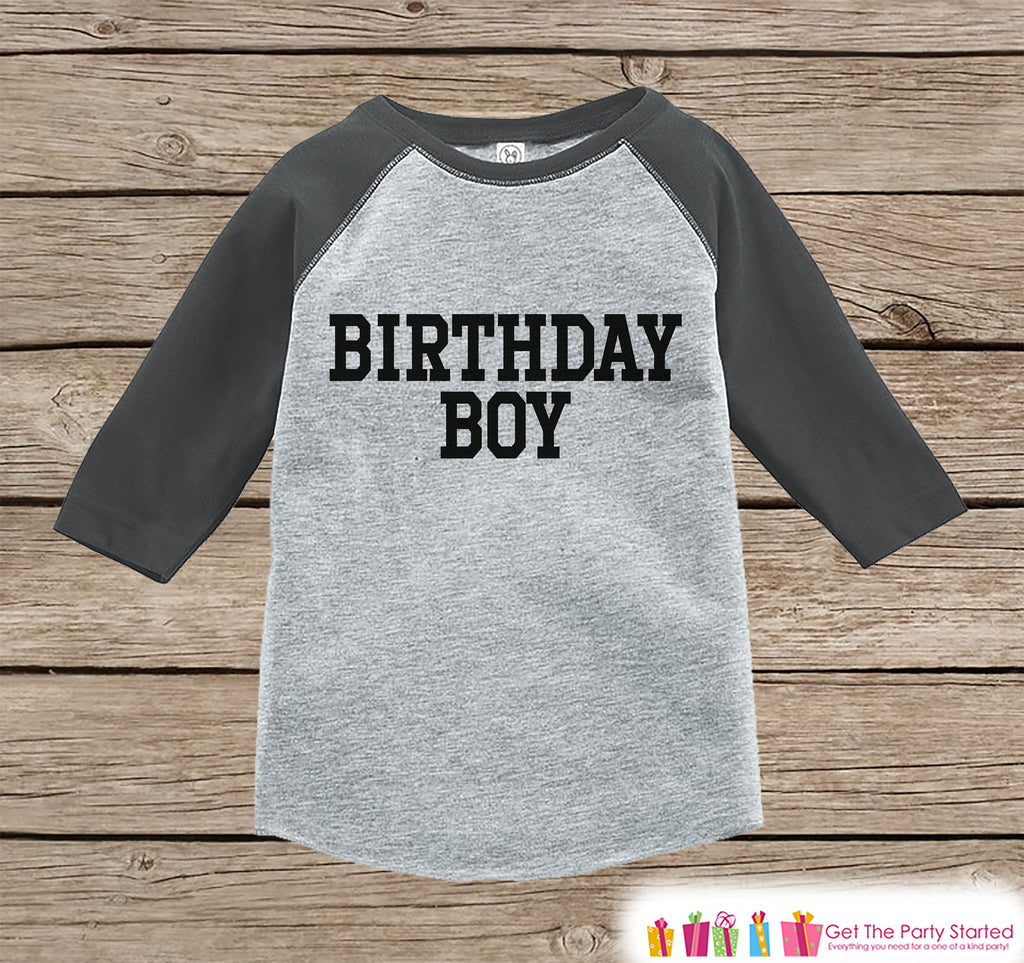 Boys Birthday Outfit - Birthday Boy Shirt or Onepiece - Youth, Toddler Birthday Outfit - Grey Baseball Tee - Kids Baseball Tee - Sporty
