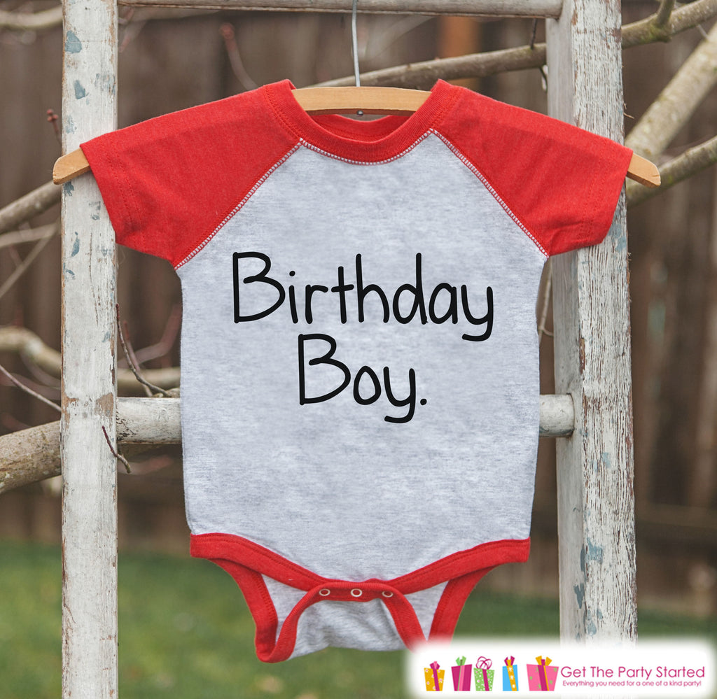 Boys Birthday Outfit - Birthday Boy Shirt or Onepiece - Youth, Toddler Birthday Outfit - Red Baseball Tee - Kids Baseball Tee - Simple