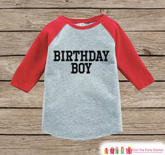 Boys Birthday Outfit - Birthday Boy Shirt or Onepiece - Youth, Toddler Birthday Outfit - Red Baseball Tee - Kids Baseball Tee - Sporty