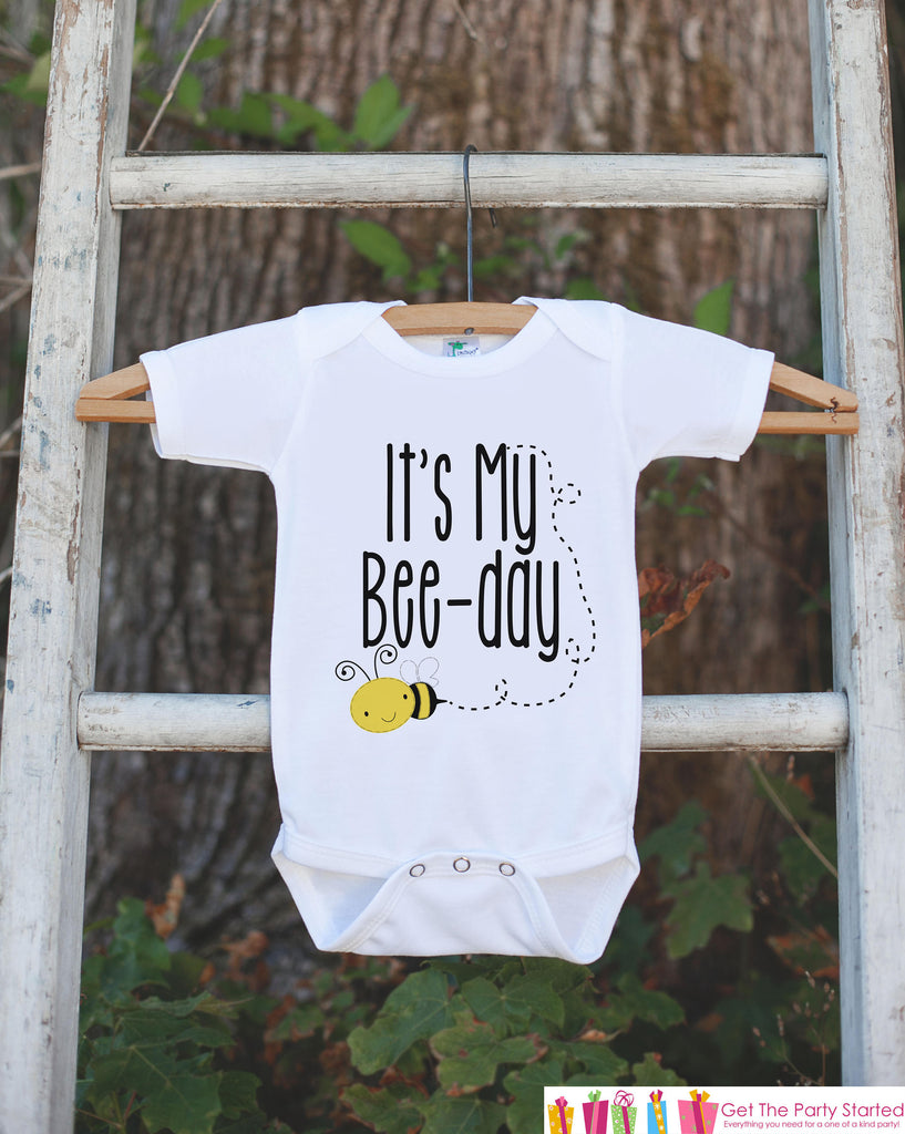 Kids Birthday Shirt - It's My Bee-Day - Birthday Shirts for Boys or Girls - Kids Happy Birthday Shirt or Onepiece - Bee Birthday Shirt