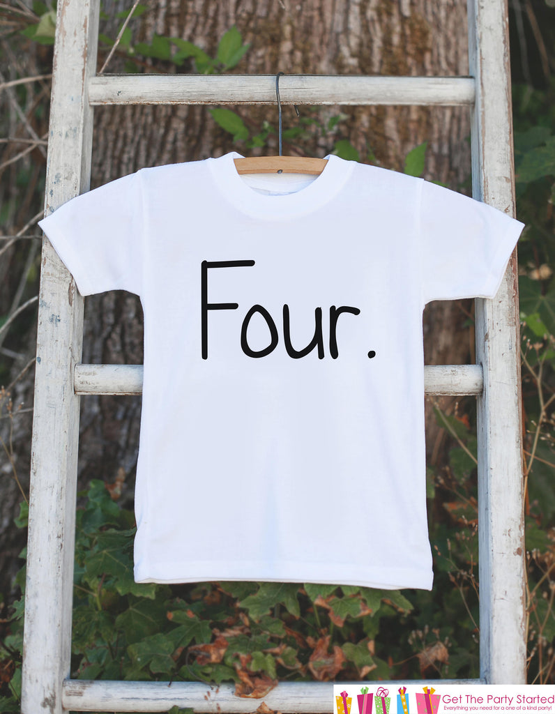 Four Birthday Shirt