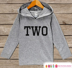 Boy Birthday Shirt - Kids Two Pullover - 2nd Birthday Outfit - Boys Birthday Hoodie - Second Birthday Shirt - Kids 2nd Birthday - Sporty