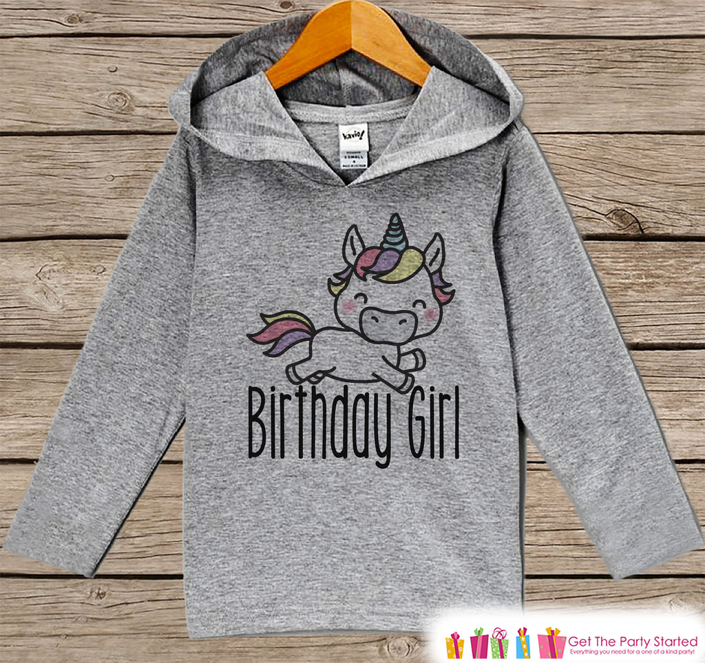 Girls Birthday Shirt - Unicorn Birthday Girl Hoodie - Girls Birthday Pullover - Happy Birthday - Girls Hoodie - Birthday Shirt for Girls