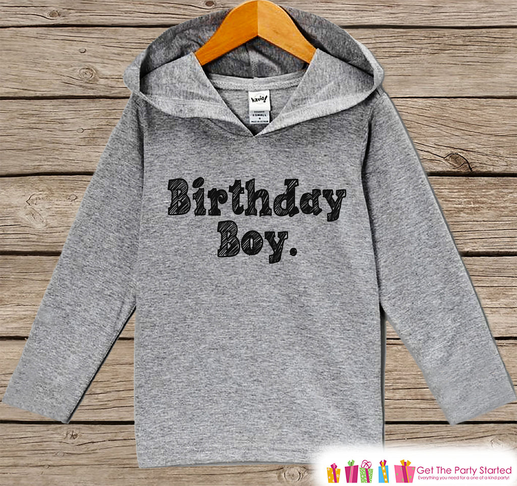 Boys Birthday Shirt - Birthday Boy Hoodie - Boys Birthday Pullover - Happy Birthday - Boys Hoodie - Birthday Shirt for Boys - Sketch