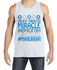 Men's Hanukkah Shirt - #Hanukkah White Tank Top - Mens Happy Hanukkah Outfit - Hanukkah Gift - Family Holiday Shirts - Jewish Shirts
