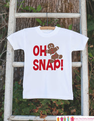 Kids Christmas Shirts - Oh Snap! Gingerbread Man Shirt - Girl or Boys Funny Christmas Onepiece or Shirt - Christmas Pajamas - Sibling Shirts