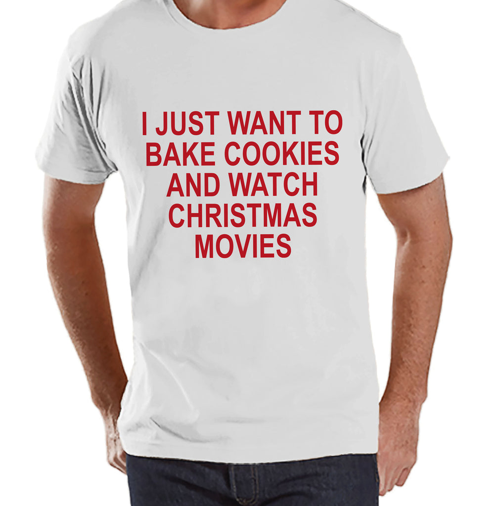 Men's Christmas Shirt - Christmas Cookies Shirt - Funny Gift for Him - Family Christmas Pajamas - White T-shirt - Christmas Gift Idea