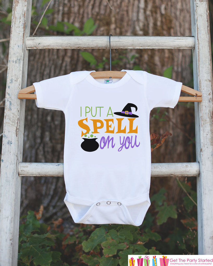 Kids Halloween Shirt - Witch Shirt - Happy Halloween Tshirt or Onepiece - Baby Girl or Boy Halloween Outfit - Kids Halloween Costume