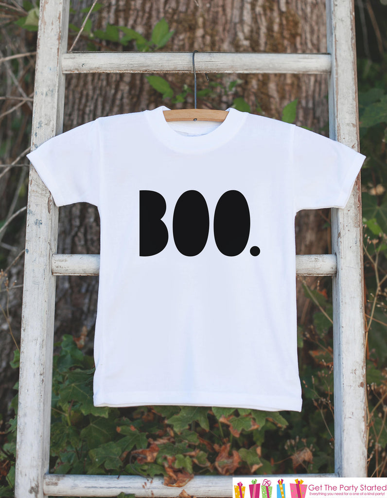 Kids Halloween Shirt - Boo Shirt - Happy Halloween Tshirt or Onepiece - Baby Girl or Boy Halloween Outfit - Kids Halloween Costume - Bold