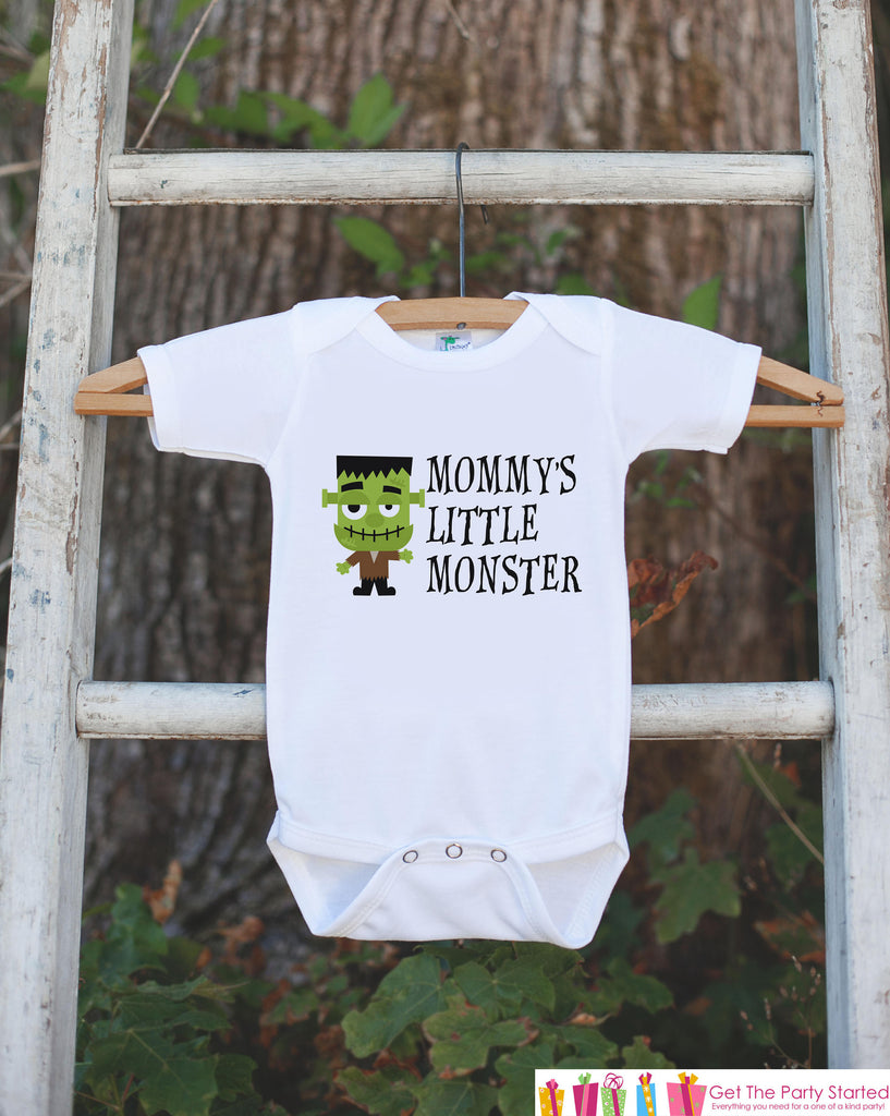 Kids Halloween Shirt - Mommy's Monster - Happy Halloween Tshirt or Onepiece - Baby Girl or Boy Halloween Outfit - Kids Halloween Costume