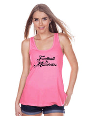 Women's Football Shirt - Football & Mimosas - Football Shirt - Womens Pink Tank Top - Sports Tshirts - Football Lover Gift - Drinking Tank