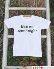 Kids New Year Outfit - Kiss Me @Midnight - Boy or Girl's New Years Eve Onepiece or T-shirt - Happy New Years Eve - Baby, Toddler, Youth