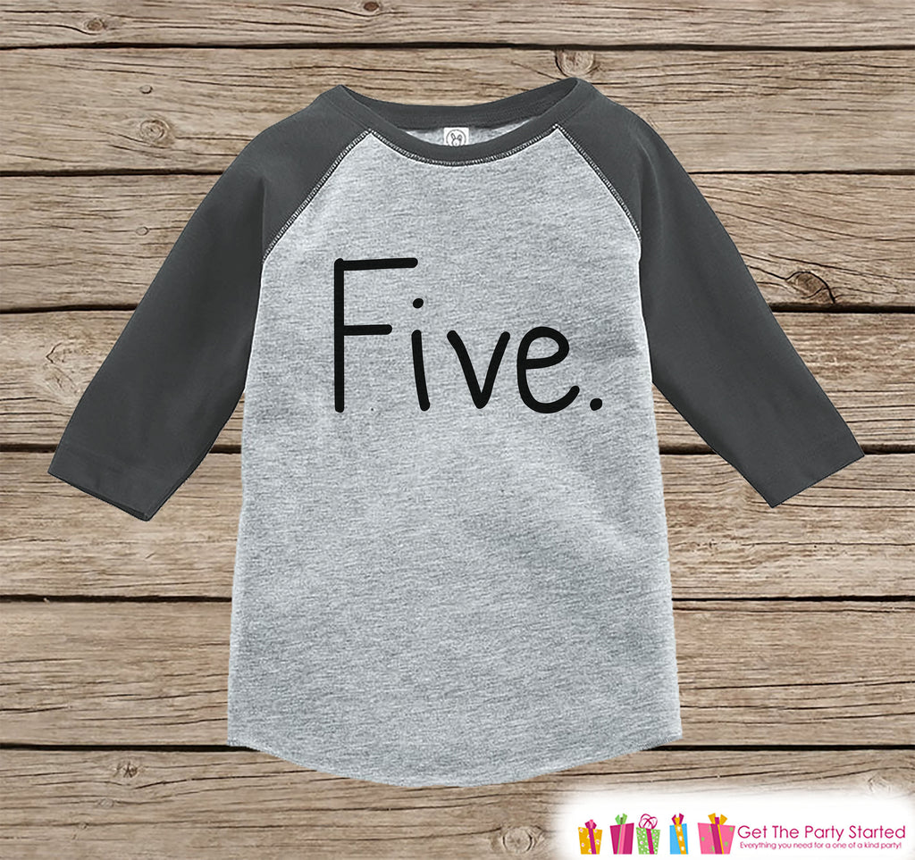 Five Year Old Birthday Shirt