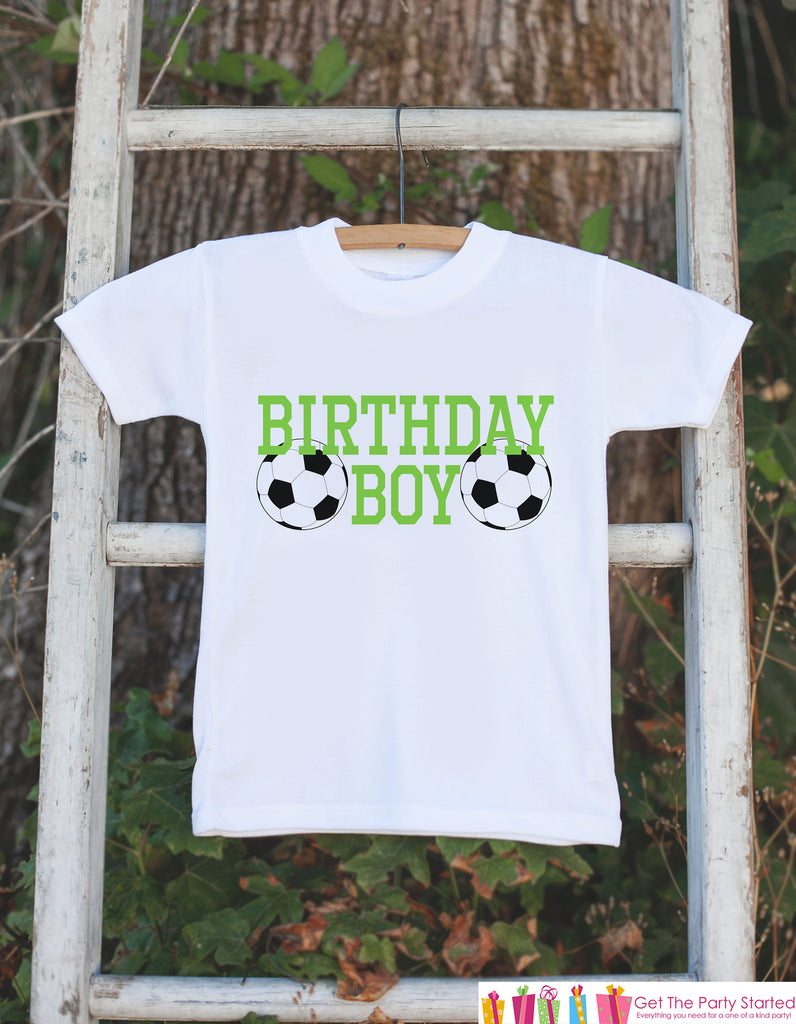 Kids Birthday Shirt - Soccer Birthday Boy Shirt - Birthday Shirts for Boys - Boy Happy Birthday Shirt or Onepiece - Birthday Boy Outfit