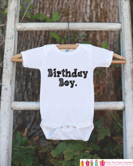 Kids Birthday Shirt - Birthday Boy Shirt - Birthday Shirts for Boys - Boy Happy Birthday Shirt or Onepiece - Birthday Boy Outfit - Sketch