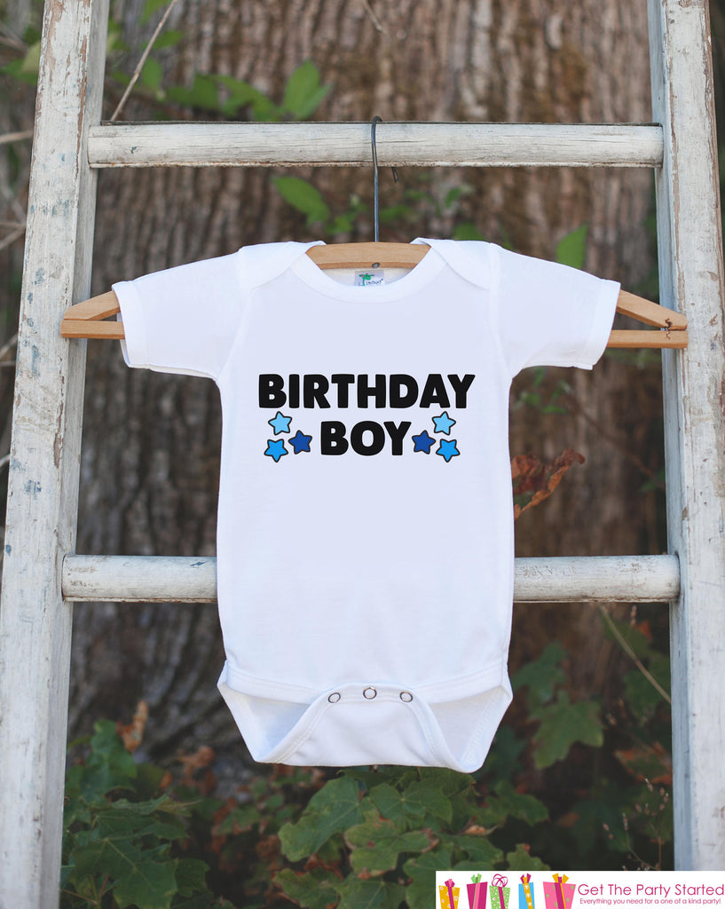 Kids Birthday Shirt - Birthday Boy Shirt - Birthday Shirts for Boys - Boy Happy Birthday Shirt or Onepiece - Birthday Boy Outfit - Stars