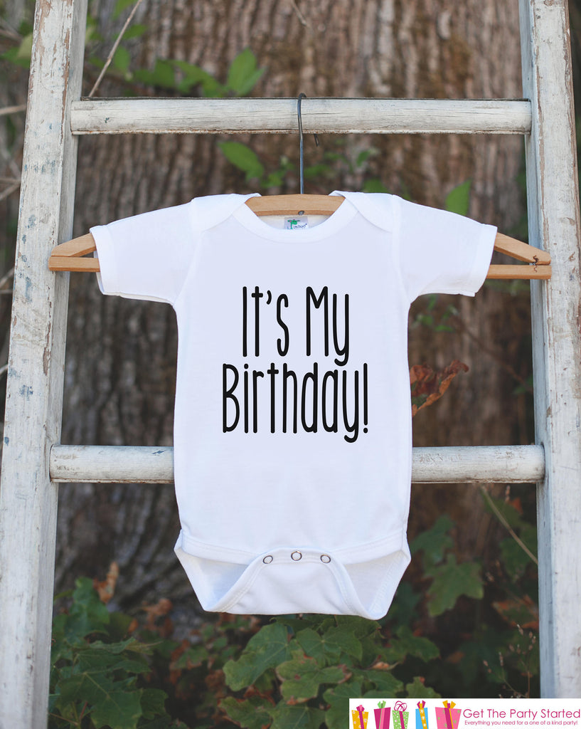 Kids Birthday Shirt - It's My Birthday Shirt - Birthday Shirts for Boys or Girls - Happy Birthday Shirt or Onepiece - Kids Birthday Outfit