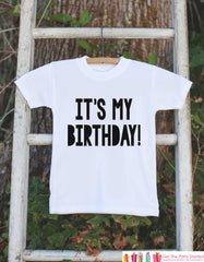 Kids Birthday Shirt - It's My Birthday Shirt - Birthday Shirts for Boys or Girls - Happy Birthday Shirt or Onepiece - Kids Birthday - Bold