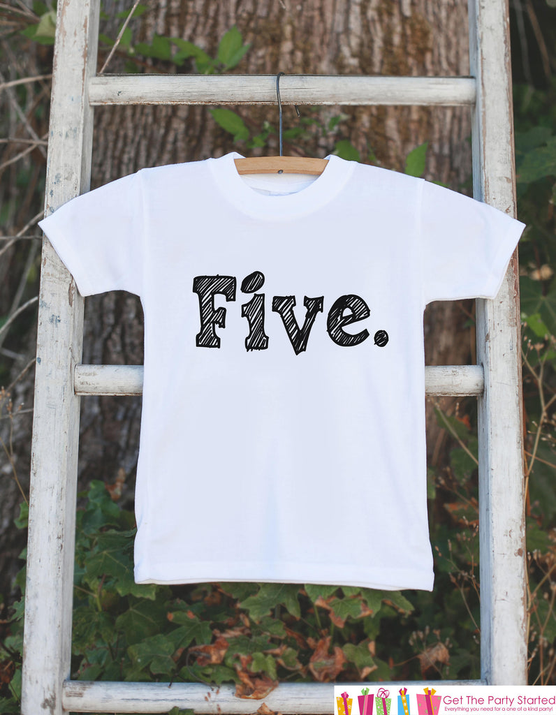 Five Birthday Shirt