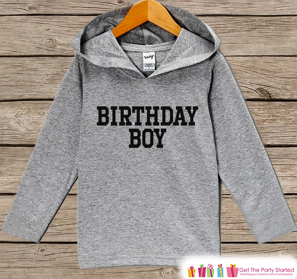 Boys Birthday Shirt - Birthday Boy Hoodie - Boys Birthday Pullover - Happy Birthday - Boys Hoodie - Birthday Shirt for Boys - Sporty