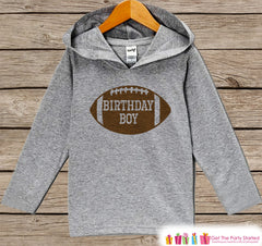 Boys Birthday Shirt - Football Birthday Boy Hoodie - Boys Birthday Pullover - Happy Birthday - Boys Hoodie - Birthday Shirt for Boys