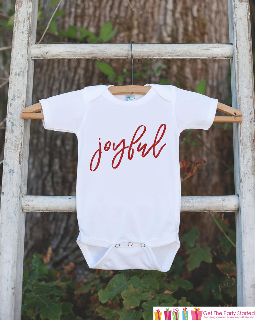 Kids Christmas Shirts - Joyful Shirt - Boy or Girl Christmas Onepiece or Shirt - Sibling Shirts - Kids Christmas Pajamas - Family Shirts