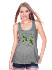Women's Unicorn Shirt - St Patrick's Day Is Magical - Irish Unicorn Tank Top - Womens Grey Tank Top - Green Lucky Unicorn - Gift for Her