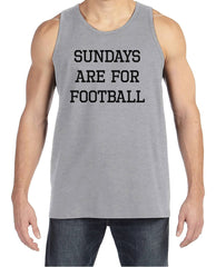 Men's Football Shirt - Sundays Are For Football - Mens Football Shirts - Grey Tank Top - Gift for Him - Gift Idea for Boyfriend or Dad