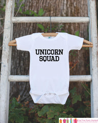 Funny Unicorn Shirts - Unicorn Squad - Funny Onepiece or T-shirt - Boy or Girl Unicorn Shirt - Great Gift Idea for Infant, Toddler, Youth