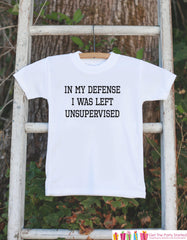 Funny Kids Shirts - I Was Left Unsupervised - Funny Onepiece or T-shirt - Boy or Girl Shirt - Great Gift Idea for Baby, Toddler - Sporty