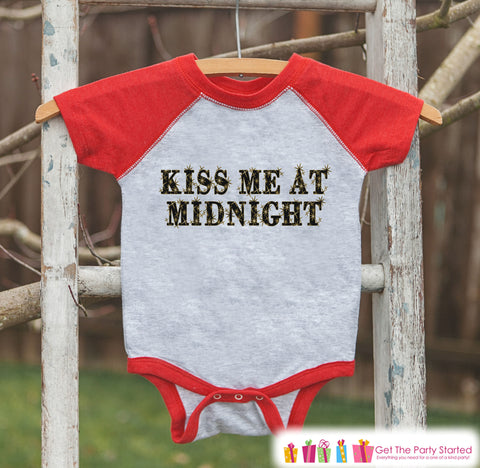 669d0f45cef7 Kids New Year Shirts - Kiss Me At Midnight - New Years Eve Outfit - Ne – 7  ate 9 Apparel
